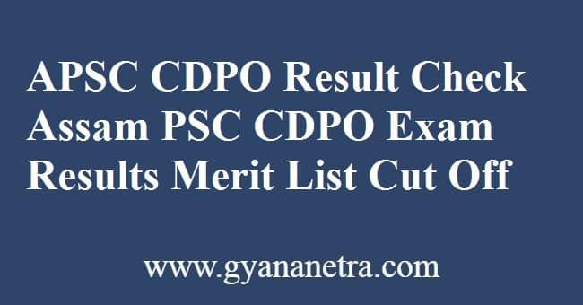 APSC CDPO Result Merit List
