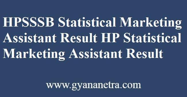 HPSSSB Statistical Marketing Assistant Result Check