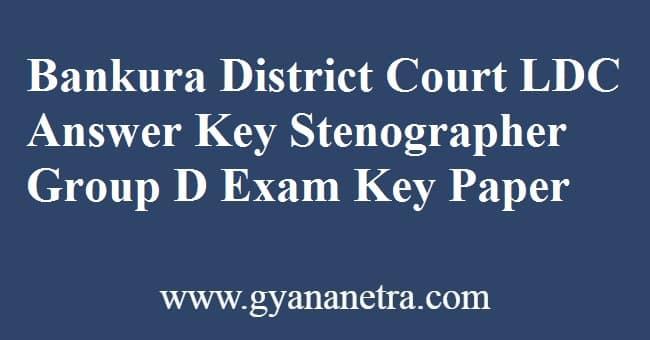 Bankura District Court Answer Key PDF 2020