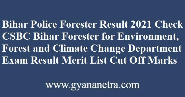 Bihar Police Forester Result Check Online