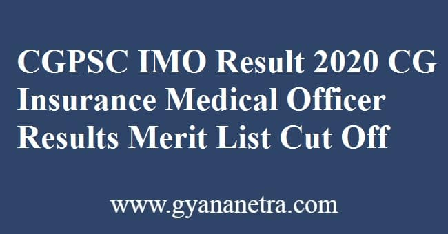 CGPSC IMO Result Merit List
