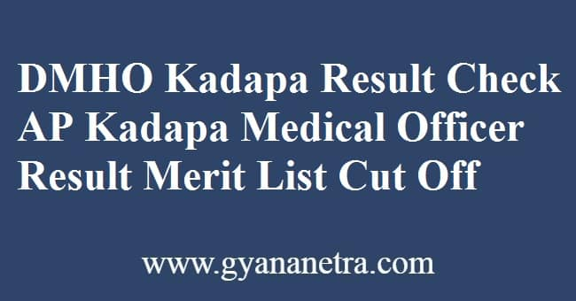 DMHO Kadapa Result Check Online