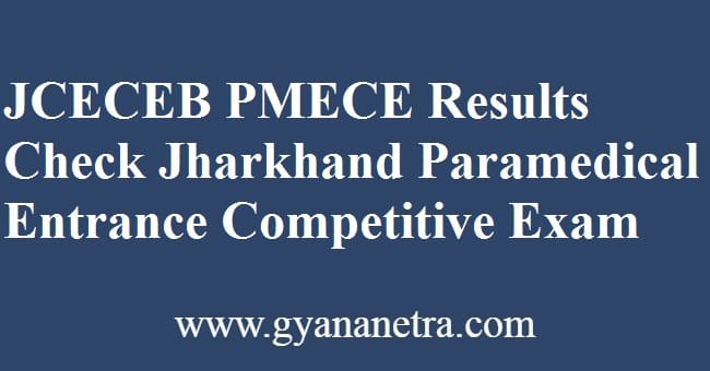 JCECEB PMECE Result Check Online