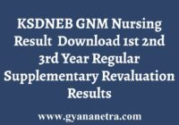KSDNEB GNM Nursing Regular Revaluation Result