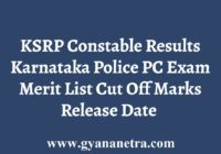 KSRP Constable Results