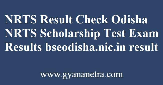 NRTS Result Check Online