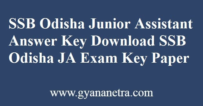 SSB Odisha Junior Assistant Answer Key Download