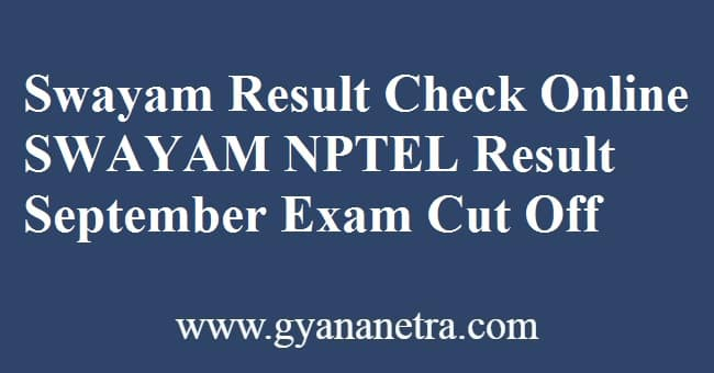 Swayam Result Check Online