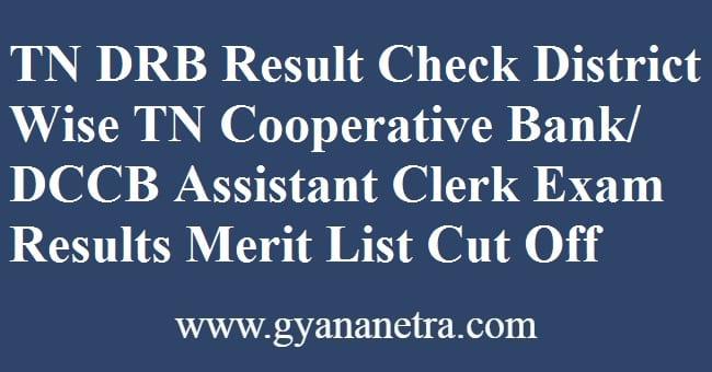 TN DRB Result Merit List Cut Off Marks