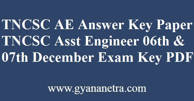 TNCSC AE Answer Key Download PDF