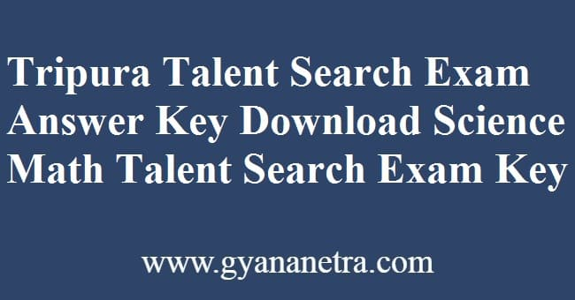 Tripura Talent Search Exam Answer Key PDF Download