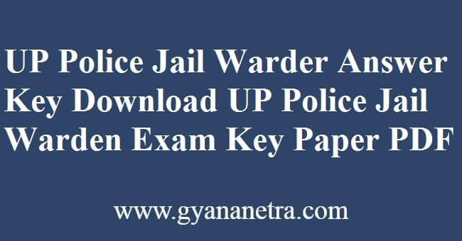 UP Police Jail Warder Answer Key Download Online