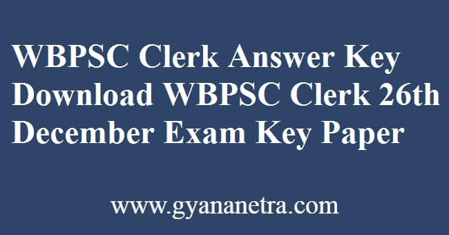 WBPSC Clerkship Supplementary Answer Key