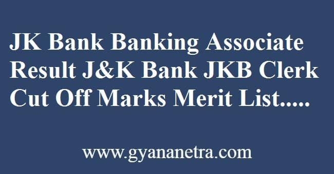 JK Bank Banking Associate Result Merit List