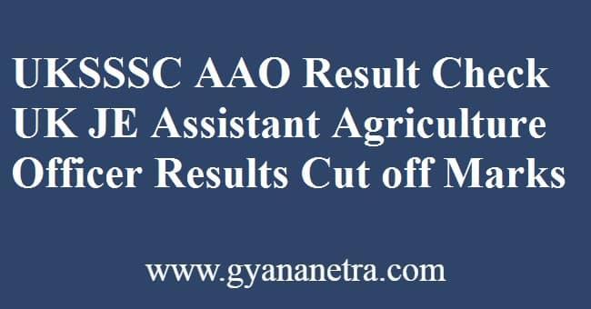 UKSSSC AAO Result JE Merit List