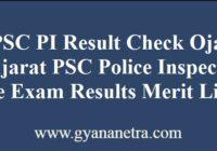 GPSC PI Result Prelims