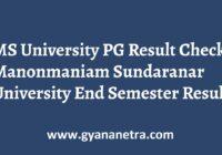MS University PG Result Semester Exam