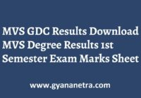MVS GDC Results Check Online