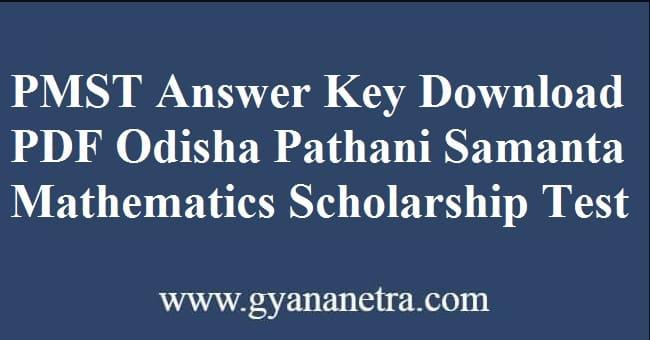 PMST Answer Key Download PDF