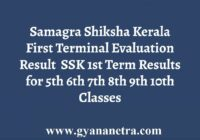 Samagra Shiksha Kerala First Terminal Evaluation Results