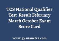 TCS NQT Result