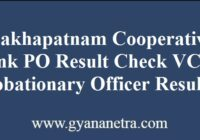 Visakhapatnam Cooperative Bank PO Result