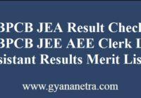 WBPCB JEA Result Merit List