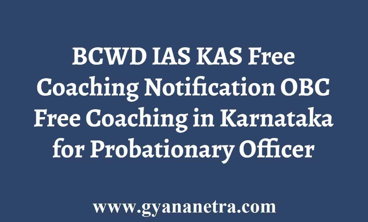 BCWD IAS KAS Free Coaching