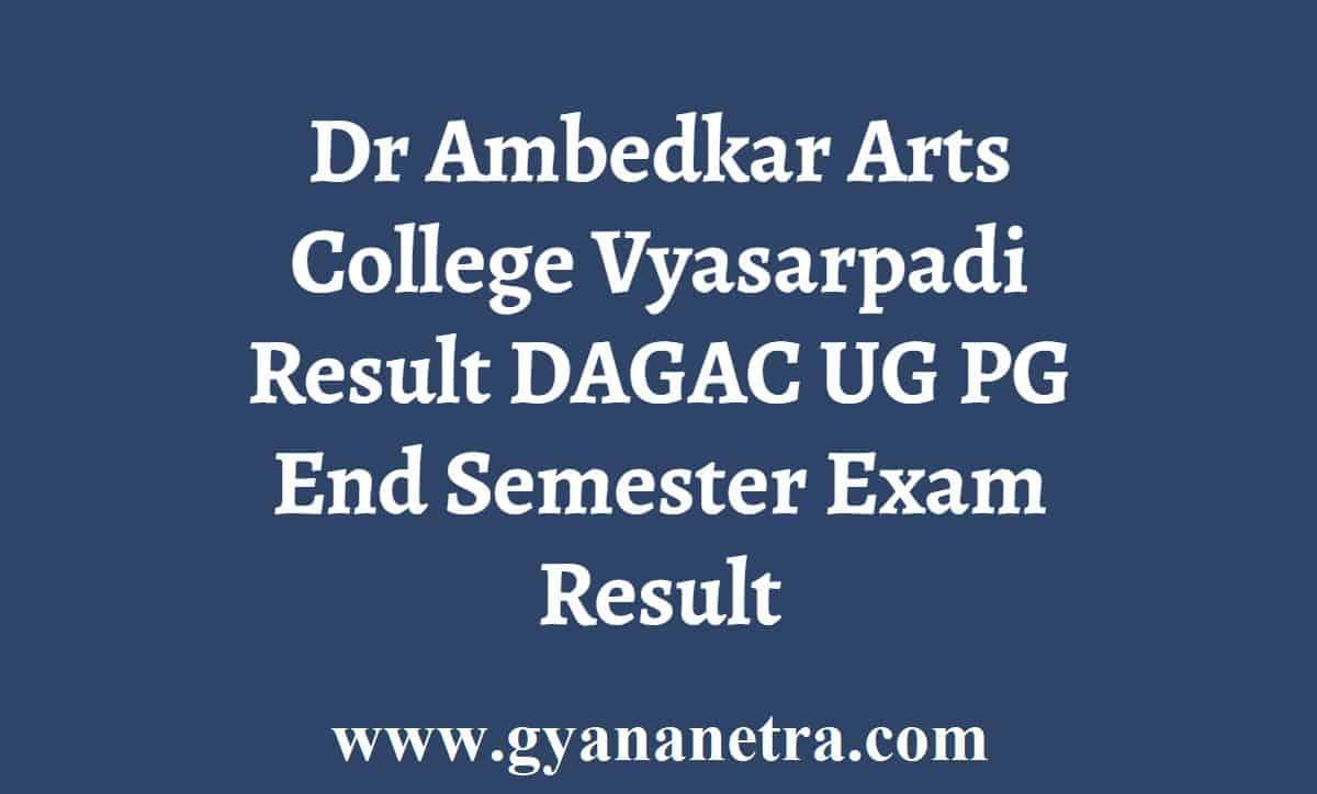 Dr Ambedkar Arts College Vyasarpadi Result