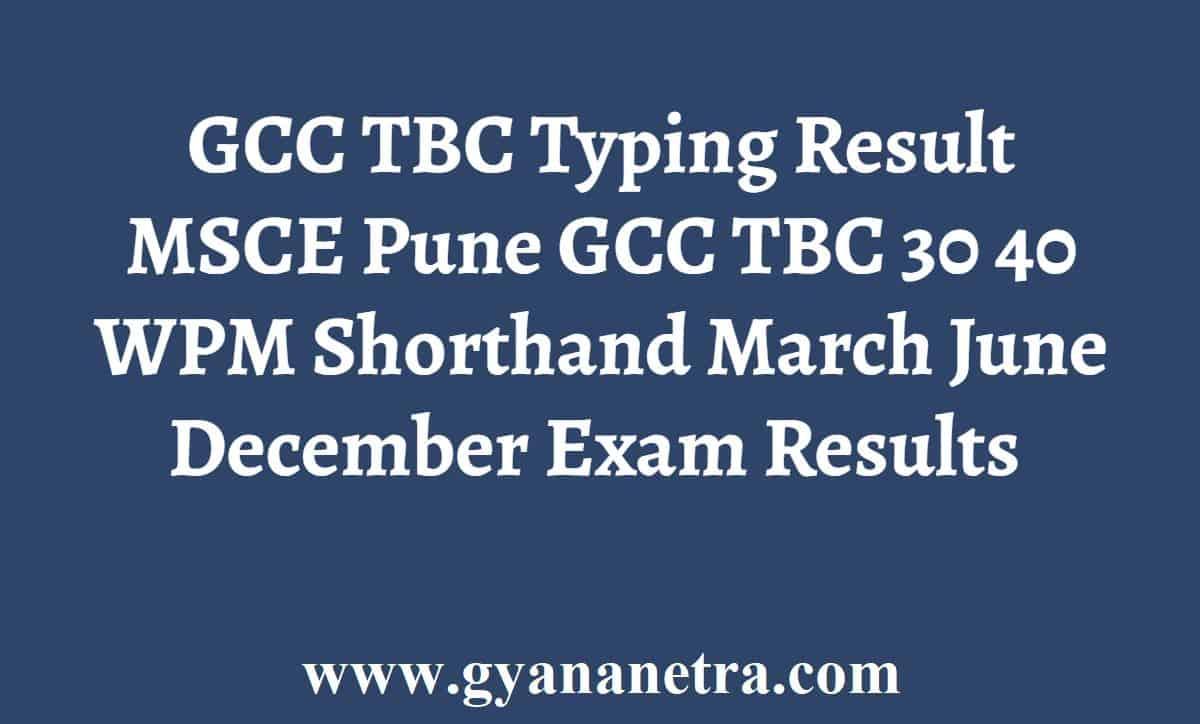 GCC TBC Typing Result