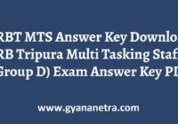 JRBT MTS Answer Key Group D Exam