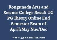 Kongunadu Arts and Science College Result