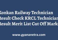 Konkan Railway Technician Result Check Online