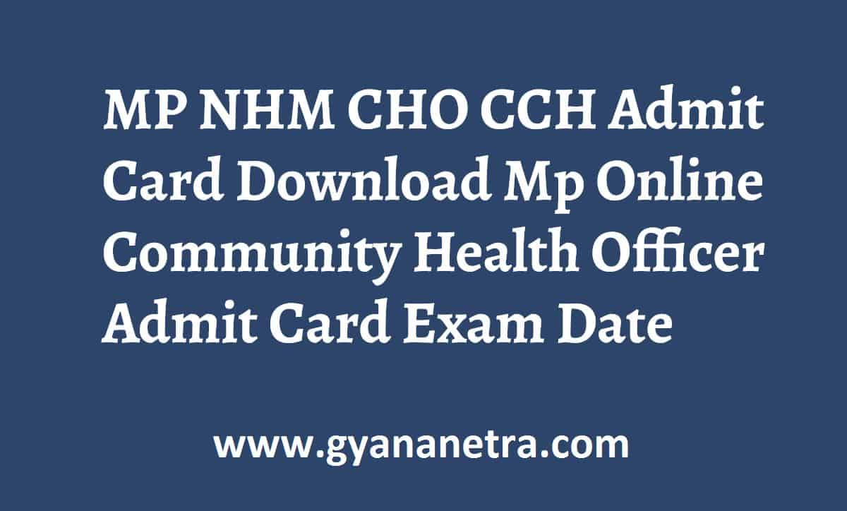 MP NHM CHO CCH Admit Download