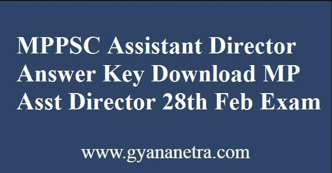 MPPSC Assistant Director Answer Key Download Online