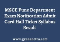 MSCE Pune Department Examination