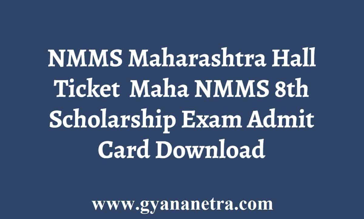 NMMS Maharashtra Hall Ticket