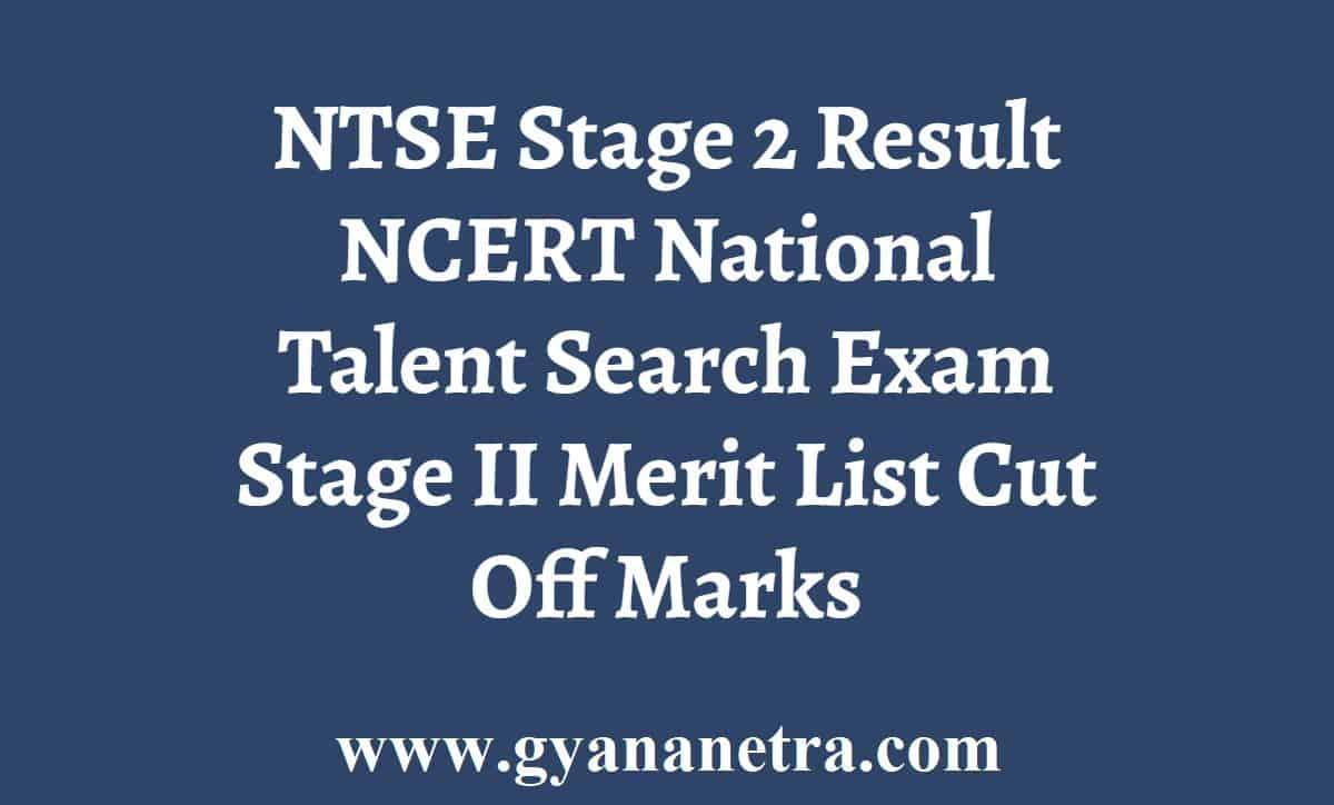 NTSE Stage 2 Result