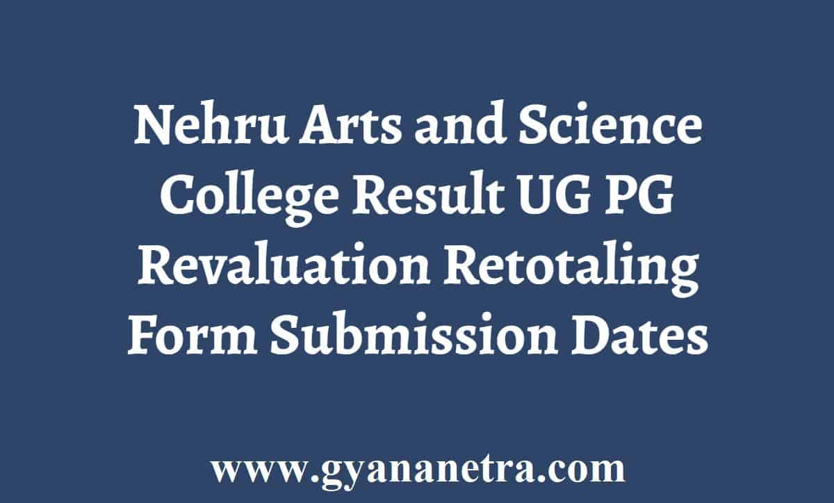 Nehru Arts and Science College Result