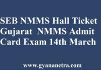 SEB NMMS Hall Ticket Gujarat