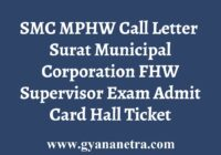 SMC MPHW Call Letter Admit Card