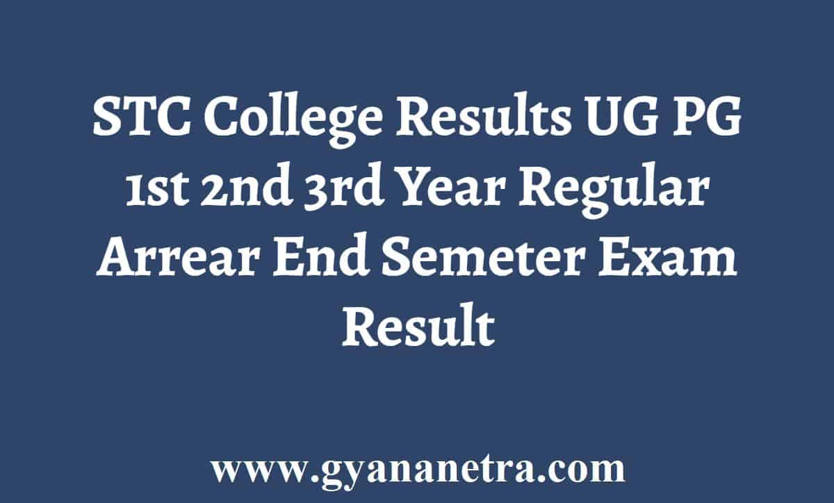 STC College Results