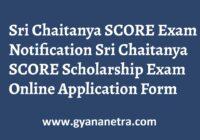 Sri Chaitanya SCORE Exam Notification