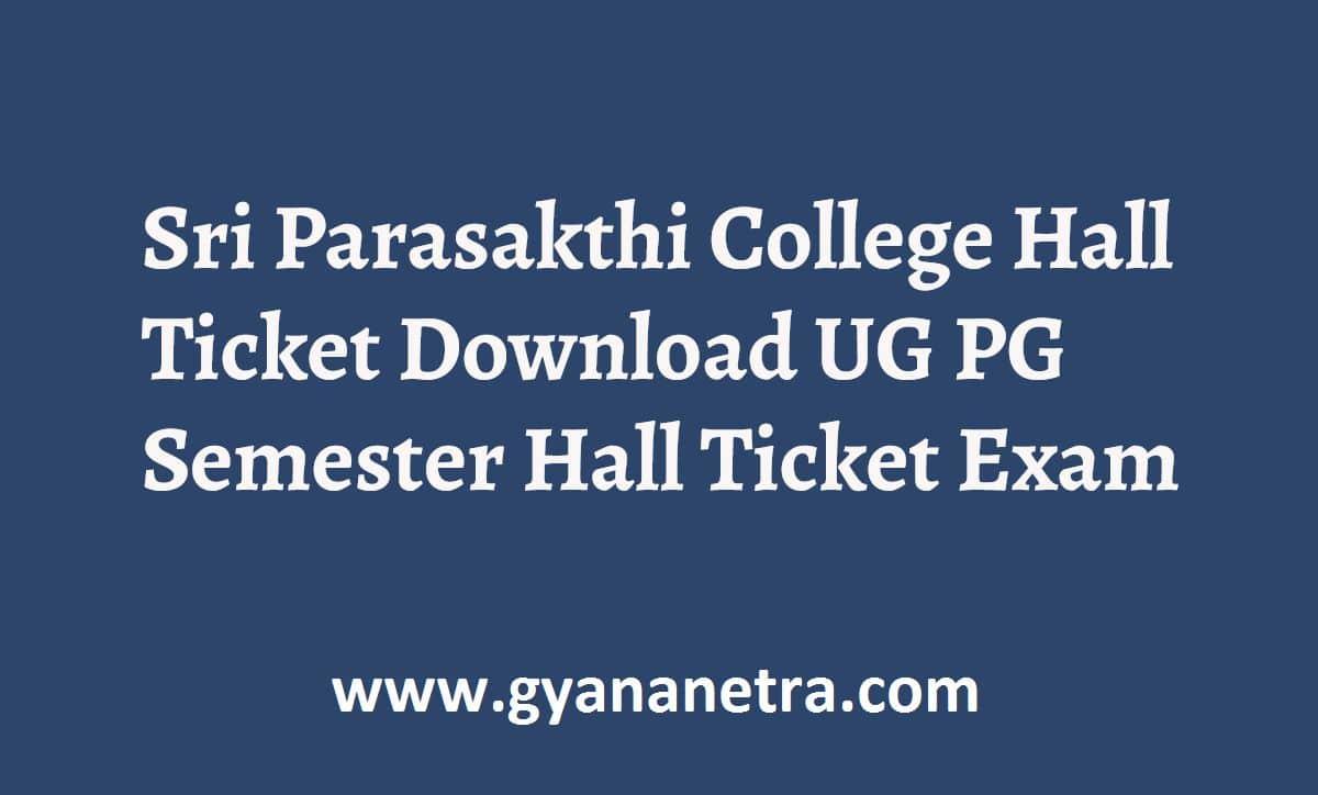 Sri Parasakthi College Hall Ticket