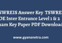 TSWREIS Answer Key COE Inter Entrance Exam