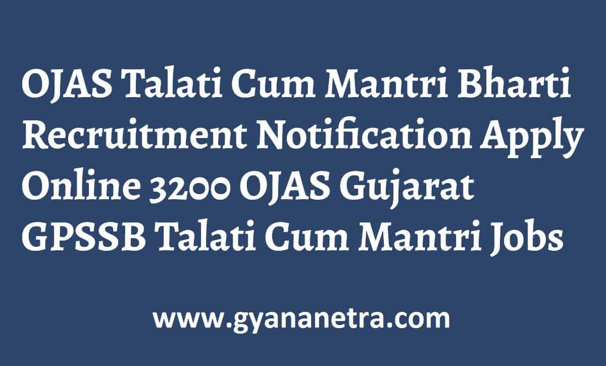 Talati Mantri Bharti Recruitment Notification OJAS