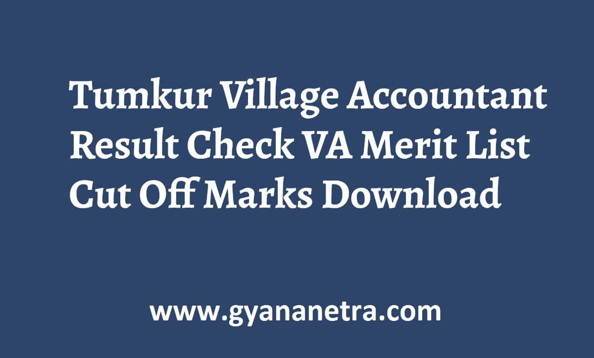 Tumkur Village Accountant Result Check Online