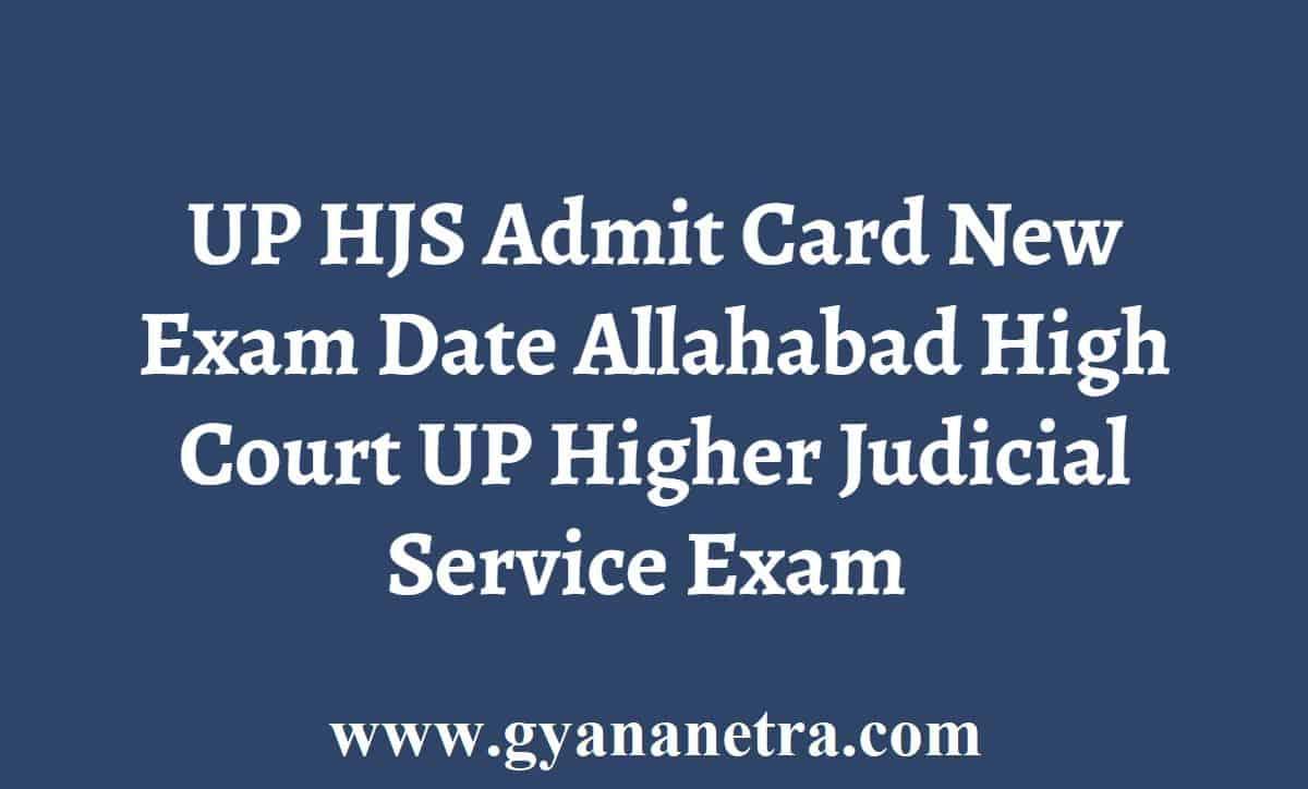 UP HJS Admit Card