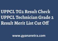 UPPCL TG2 Result Merit List