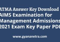 AIMS ATMA Answer Key Paper PDF